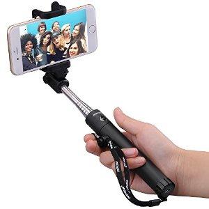 Mpow iSnap X Selfie Stick w/ Bluetooth Remote Shutter (various colors)  $5