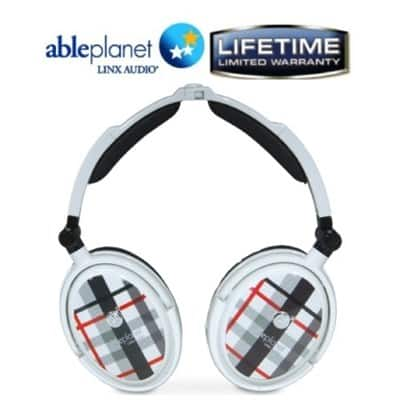 Able Planet Extreme Noise Cancelling Foldable Headphones (White) $10 + Free Shipping!