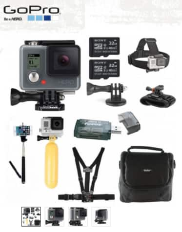 GoPro HERO HD 1080p Action Camera with 64GB Deluxe Accessory Bundle $199.99 + Free Shipping!