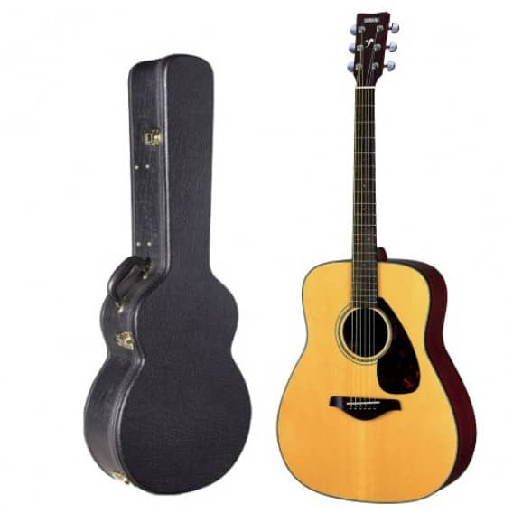 Yamaha FG700S Solid Top Acoustic Guitar w/ Hardshell Guitar Case + $25 Focus Camera GC $200 + Free Shipping