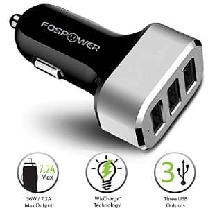 FosPower (36W / 7.2A) 3-Port USB Car Charger Adapter $6 AC + Free Shipping!