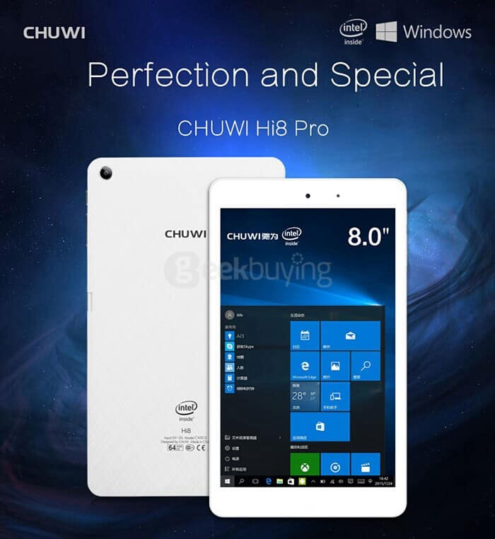 32GB 8-Inch (1920x1200 WUXGA IPS) Chuwi Hi8 Pro Dual OS Windows 10 + Android 5.1 Tablet PC $95 Shipped