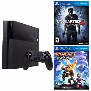 PlayStation 4 500GB Console + Uncharted 4: A Thief's End + Ratchet & Clank $369 + Free Shipping! (eBay Daily Deal)