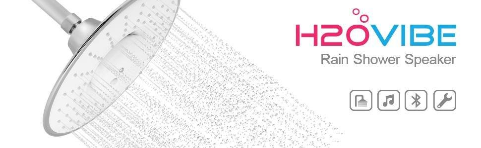 H2oVibe Rain Showerhead Jet with Wireless Bluetooth Speaker - Polished Chrome $30 AC + FSSS!