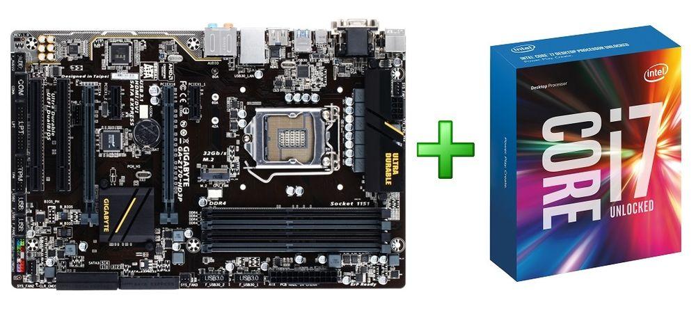 Intel BX80662I76700K Processor + Gigabyte GA-Z170-HD3P Motherboard Bundle $400 + Free Shipping (eBay Daily Deal)