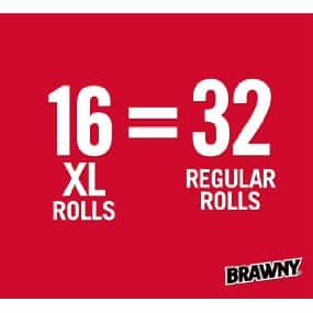16 XL Brawny Pick-A-Size Paper Towels $21.74 AC or less w/ S&S + Free Shipping!