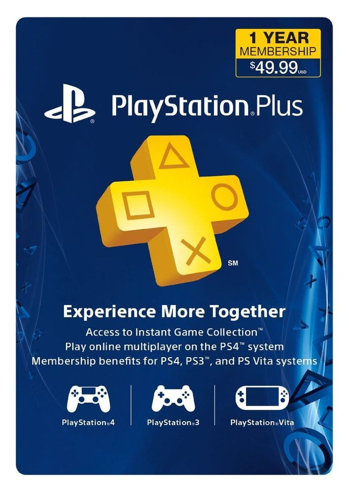 Sony PlayStation Plus 1 Year (12 Month) Membership Subscription Card $39 + Free Shipping (eBay Daily Deal)