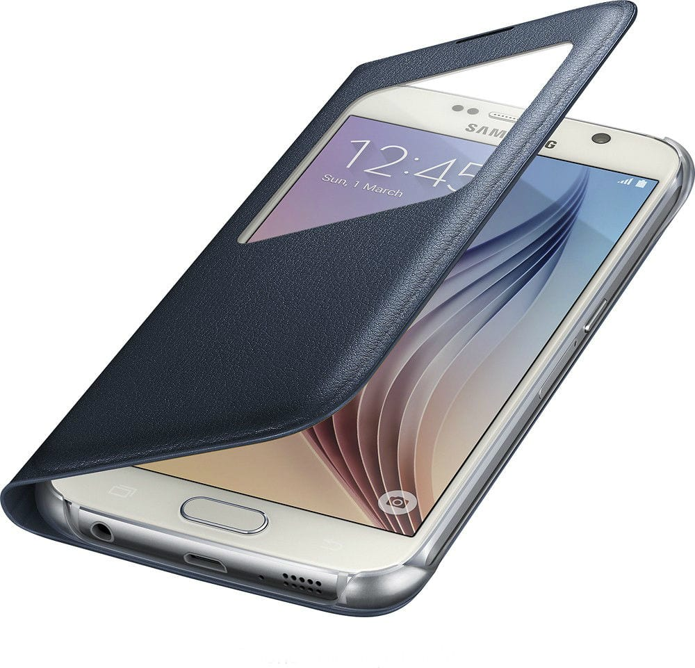 Samsung S-View Black Sapphire Flip Cover for Galaxy S6 for $6 + Free Shipping!