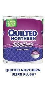 Quilted Northern Ultra Plush 24 Supreme (90+ Regular) Rolls Toilet Paper for $17.35 AC w/ 5+ S&S Items + Free Shipping!