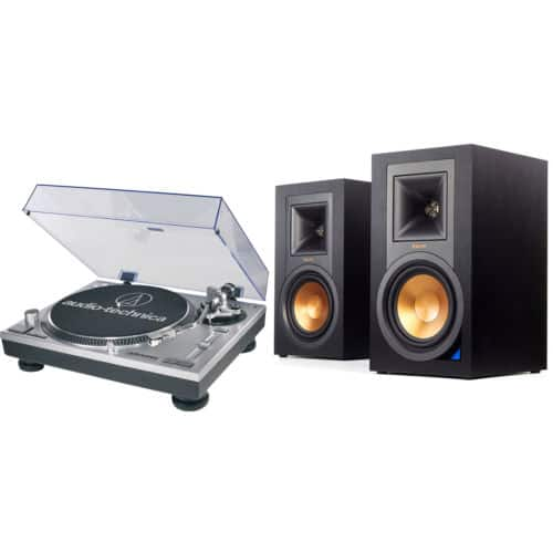 Klipsch R-15PM Powered Bluetooth Speakers & Audio-Technica ATLP120USB Turntable $495 + Free Shipping (eBay Daily Deal)