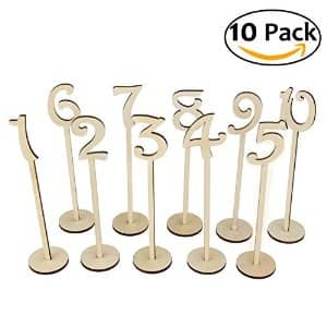 10-Pack OULII Wedding Table Numbers with Holder Base for Wedding or Home Decoration $1 AC + FSSS!