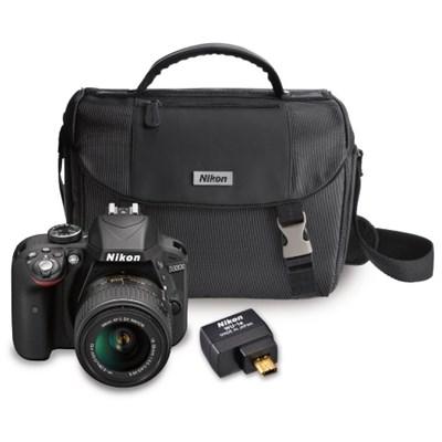 Nikon Factory Refurbished D3300 24.2MP SLR Camera with 18-55 VR II Lens + Nikon Wifi Adapter and Nikon Case $339 + Free Shipping!