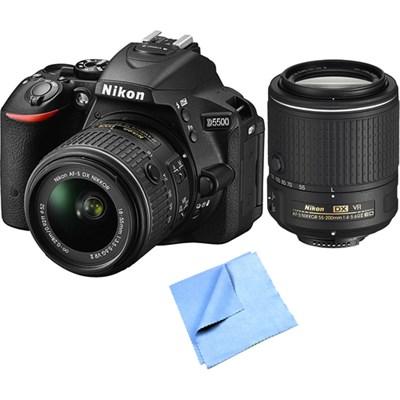 Nikon Refurbished D5500 24.2MP DSLR with 18-55mm & 55-200mm VR II Lenses Bundle $629 Shipped!
