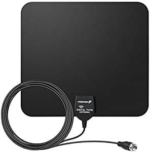 Fosmon 25 Miles Range Indoor Ultra Thin HDTV Antenna $2.99, Fosmon 35 Miles Range HDTV Antenna $5, Fosmon 60 Miles Range HDTV Antenna w/ Signal Booster $13 AC + Free Shipping!