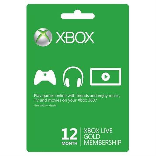 Xbox Live 12 Month Gold Card $37.99 AC + Free Shipping!