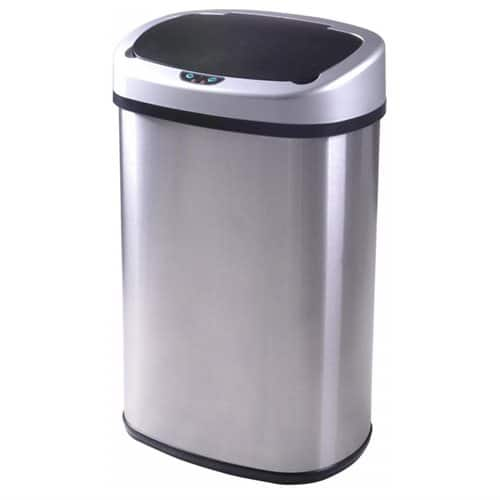 13-Gallon Touch-free Sensor Automatic Stainless Steel Trash Can $29.99 AC + Free Shipping!
