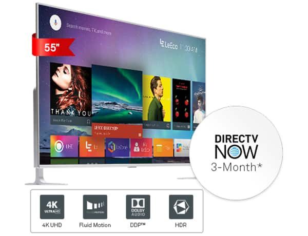 LeEco uMax85 TV + 3-Months DirectTV Now (value $105) for $4499 + Free Shipping w/ free White Glove Service