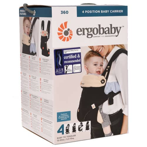 Ergobaby 360 All Carry Positions Award-Winning Ergonomic Baby Carrier for $113 + Free Shipping