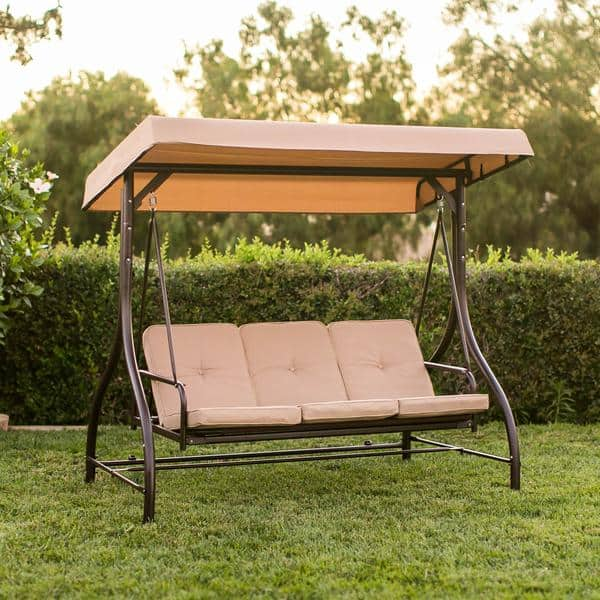 Inspirational Converting Outdoor Swing Canopy Hammock Seats Patio Deck Furniture Tan for AC