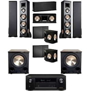 BIC Acoustech PL-980 7.2 Home Theater System: Denon AVR-X2300W Receiver + 2 PL-980 Floorstanding Speakers + 1 PL-28 Center + 2 PL-66 Surround + 2 PL-200II Sub $1799 + Free Shipping