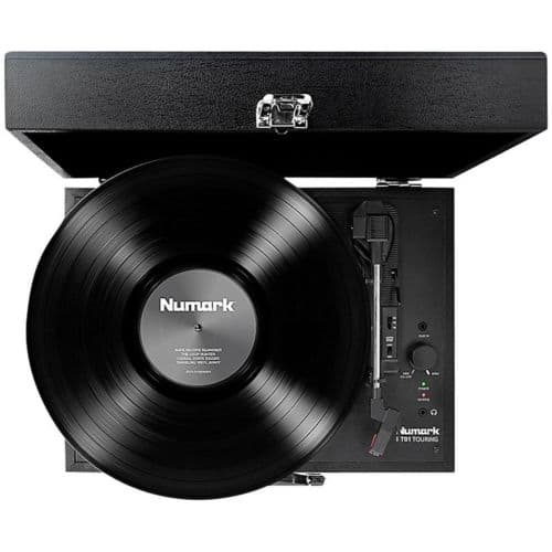 Numark PT-01 Touring Record Player Portable Suitcase-Style Turntable for $50 Shipped