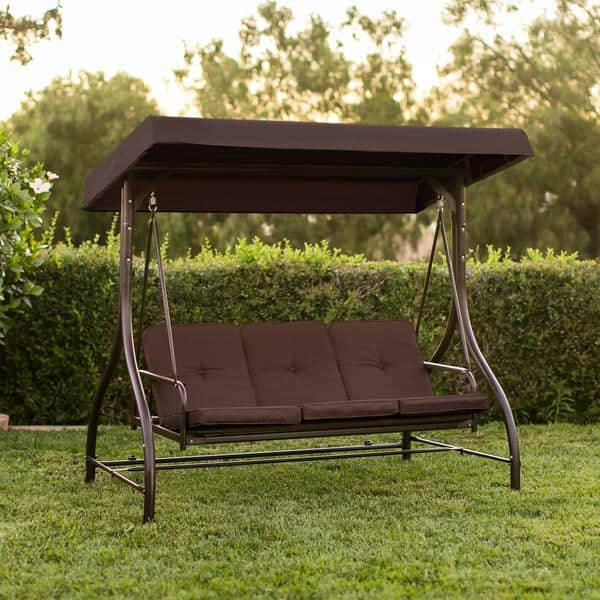 Converting Outdoor Swing Canopy Hammock Seats 3 Patio Deck Furniture (Multiple Color Options) for $125 AC + Free Shipping