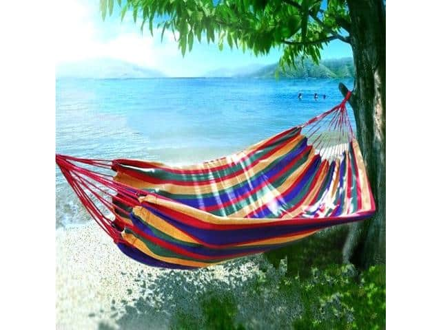 Outdoor Nation Comfortable Hanging Cotton Nylon Mesh Rope Hammock $12.99 + Free Shipping $13