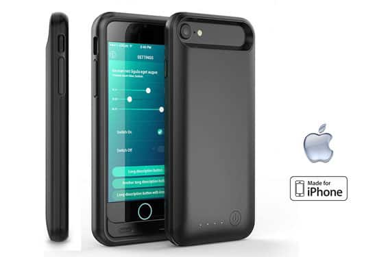 Apple MFi-Certified 3,100mAh Charging Case for iPhone 7/8 or 7/8 Plus for $15.97 AC + Free Shipping