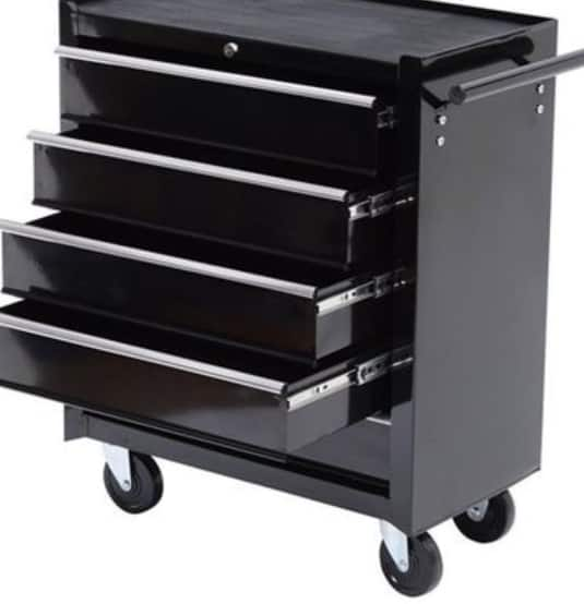 HomCom Rolling Tool Storage Cabinet Chest with 5 Drawers for $106.99 AC + Free Shipping