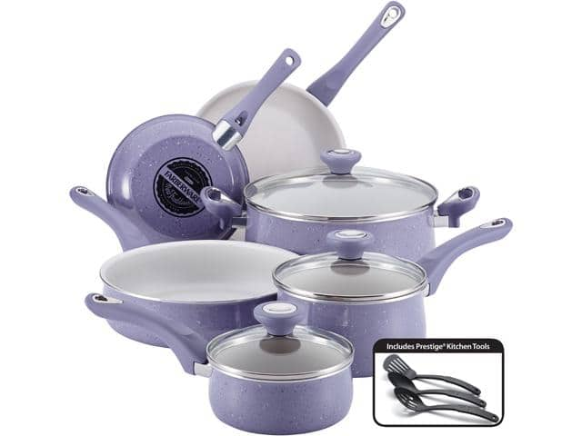12-Piece Farberware New Traditions Speckled Aluminum Nonstick Cookware Set (Lavender) for $49.99 + Free Shipping