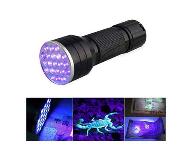 SODIAL UV flashlights 21 LED UV black flashlight $2.29 + Free Shipping