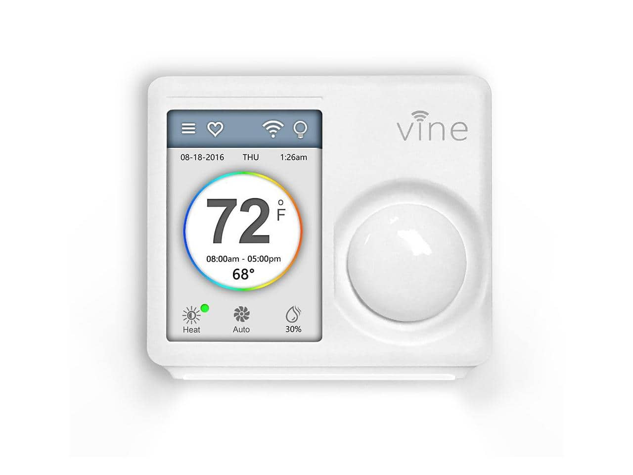 Vine Smart WiFi Thermostat with 7-Day Programming, Touchscreen and Nightlight + $10 NE Promotional Gift Card for $69.95 + Free Shipping