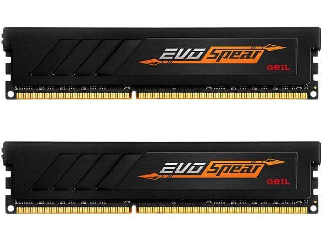 GeIL EVO SPEAR 16GB (2 x 8GB) 288-Pin DDR4 SDRAM DDR4 3000 (PC4 24000) Desktop Memory for $139.99 + Free Shipping