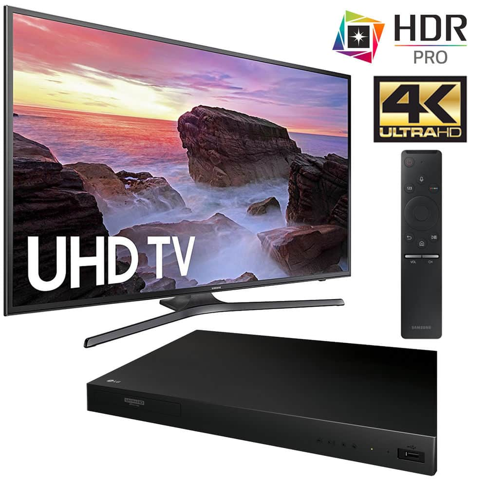 "Samsung UN55MU6290FXZA Flat 55"" LED 6 Series Smart TV 2017 + LG Blu Ray Player $599 + Free Shipping (eBay Daily Deal)"