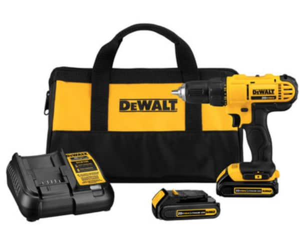 DeWALT DCD771C2R 20V MAX Cordless Lithium-Ion 1/2 in. Compact Drill Driver Kit (Refurbished) for $67.99 + Free Shipping