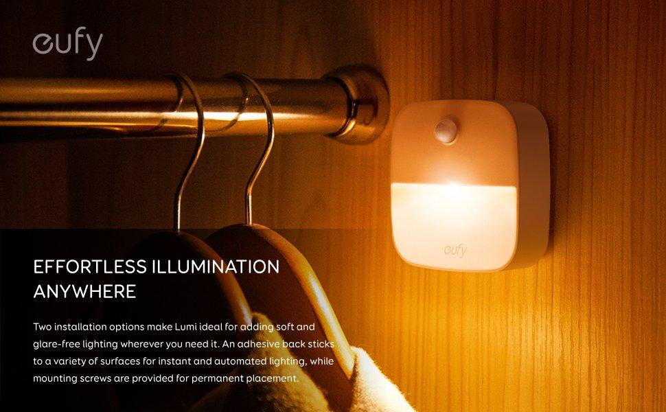 3-Pack Eufy Lumi Stick-On Night Light $11 + FSSS