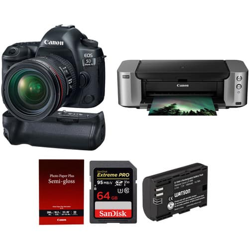 Canon 5D Mark IV + Pro-100 Printer $2850 after $350 Rebate & More + Free Shipping
