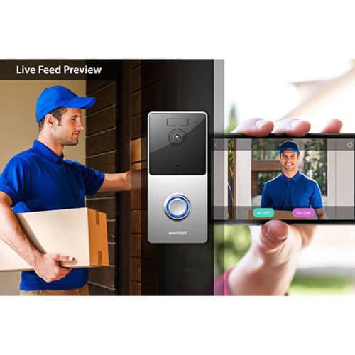 Olive & Dove RemoBell WiFi Video Doorbell (Battery Powered, Night Vision) for $99.99 + Free Shipping (eBay Daily Deal)