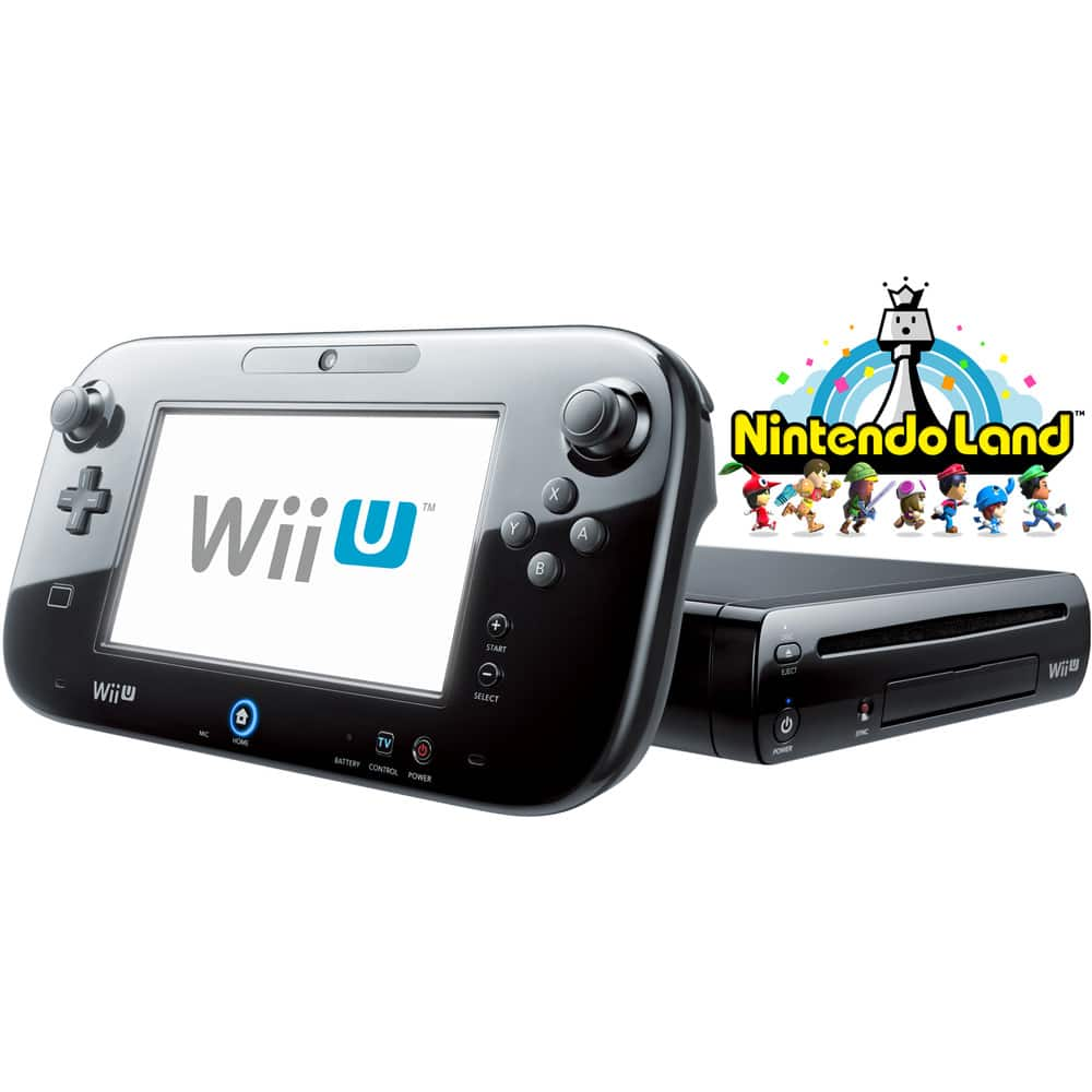 Black Wii U 32GB Deluxe + Nintendo Land (Refurbished) for $160 AC + Free Shipping (eBay Daily Deal)