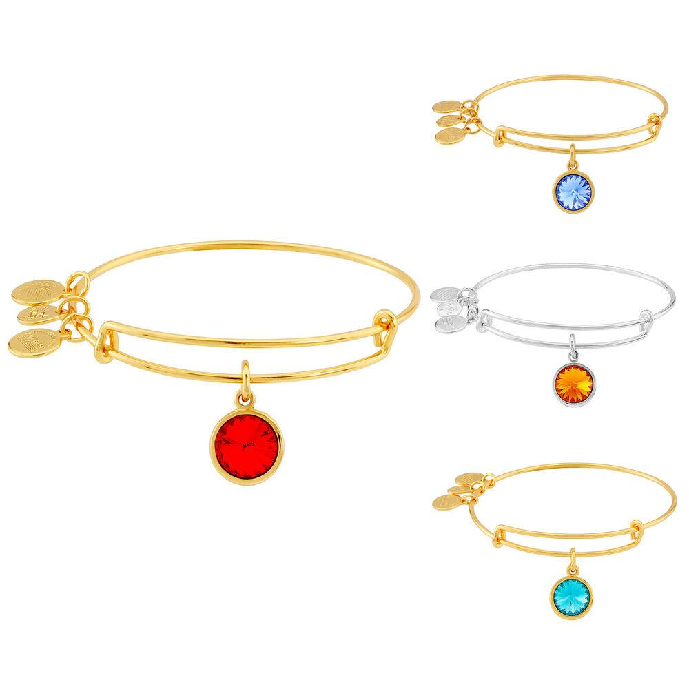Alex & Ani Ladies Charm Bangle Bar - Birthstone Collection for $17.99 + Free Shipping (eBay Daily Deal)
