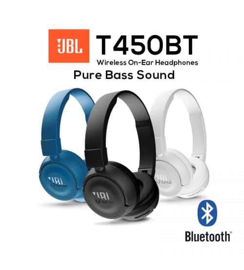 JBL T450BT Bluetooth Wireless On-Ear Headphones for $40 + Free 2-Day Shipping