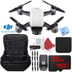DJI Spark Alpine White Quadcopter Drone 32GB Essentials Bundle for $359 + Free Shipping