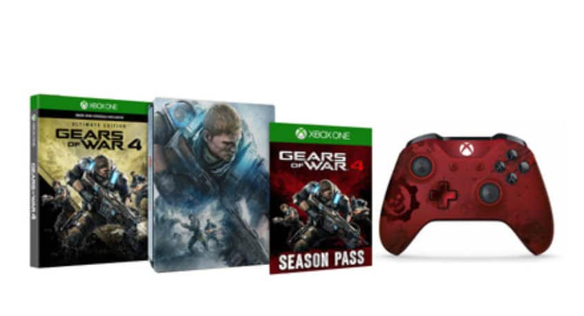 Gearsof War 4: Ultimate Edition Steelbook and Crimson Omen Controller Bundle $59.96 + Free Shipping