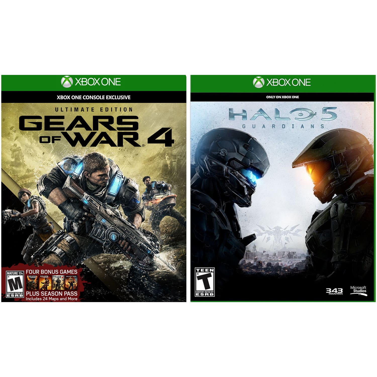 Xbox One Gears of War 4: Ultimate Edition Steelbook & Halo 5: Guardians Bundle for $32.80 + Free Shipping