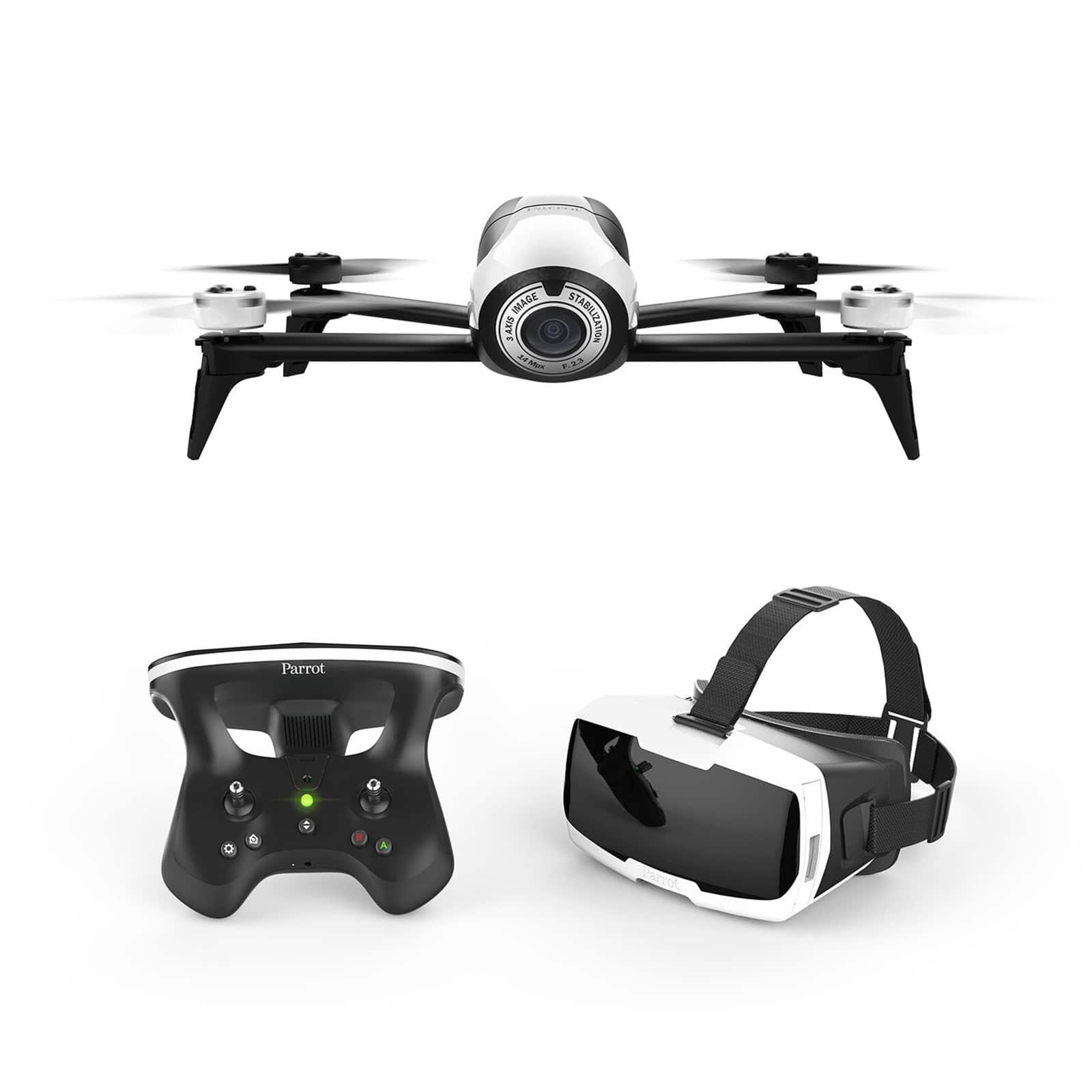 Parrot Bebop 2 FPV Drone Kit with Parrot CockpitGlasses and Parrot SkyController 2 (Refurbished) for $269.99  + Free Shipping