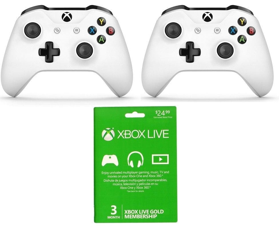 2 Xbox One S Controllers + 3 Month Xbox Live Card $100 + Free Shipping (eBay Daily Deal)