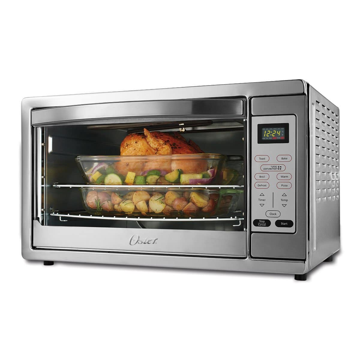 Oster Extra Large Stainless Steel Digital Countertop Oven for $56 AC + Free Shipping!