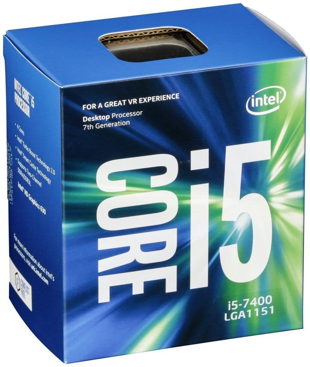 Intel Core i5-7400 Kaby Lake 4-Core Processor 3GHz 3.5GHz max BX80677I57400 for $142.99 + Free Shipping (eBay Daily Deal)
