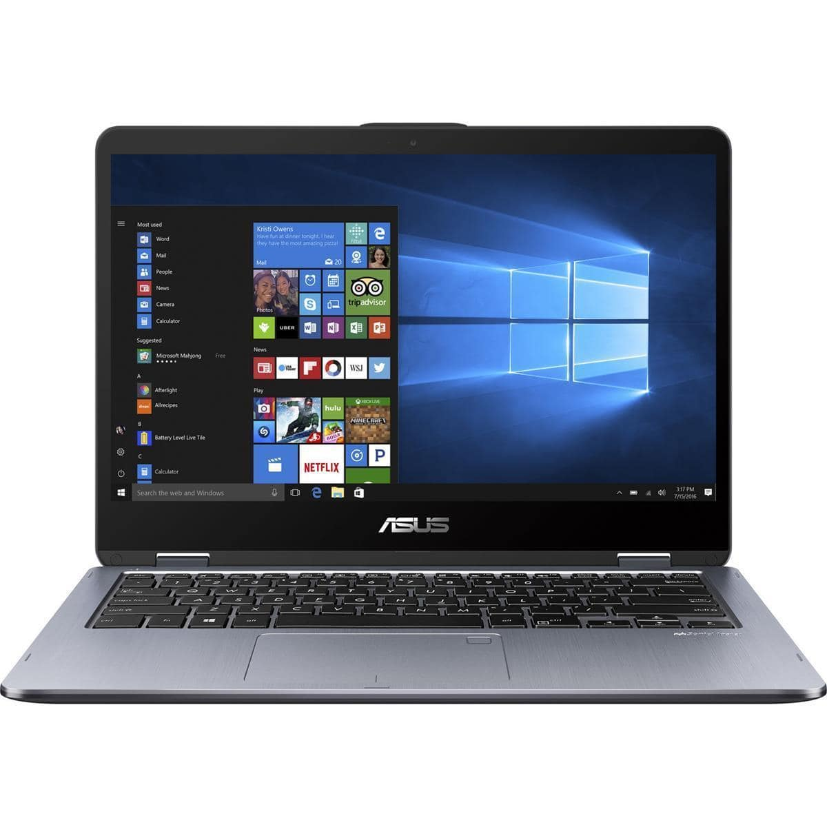 "ASUS Vivobook Flip 14.0"" Full HD Touchscreen Notebook Computer with Stylus Pen, Intel Core i5-7200U 2.50GHz , 6GB RAM, 1TB HDD $550 Shipped"
