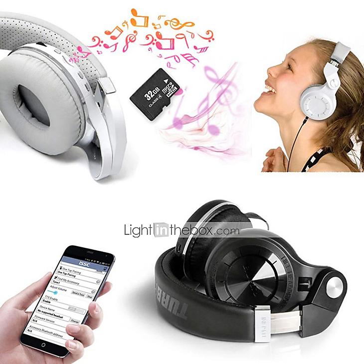 Bluedio T2+ Turbine Wireless Bluetooth Headphone w/ MicroSD Slot & FM Radio for $15.99 + Free Shipping